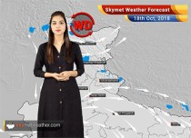 Weather Forecast for Oct 18: Rain in South and North India; Central and Eastern India to remain dry