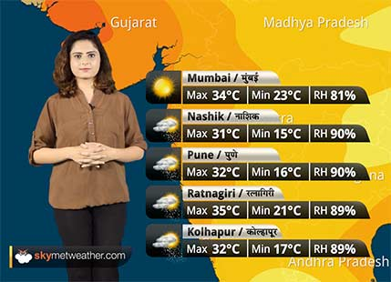 Maharashtra Weather Forecast for Nov 3: Rains over Madhya Maharashtra; Vidarbha continues to remain dry