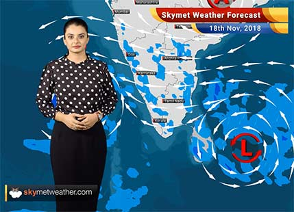 Weather Forecast for Nov 18: Depression to strengthen into a Cyclonic Storm, Wet Spells over South Peninsula