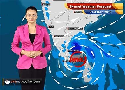 Weather Forecast for Nov 21: Heavy rains in Chennai, Tamil Nadu, Kerala; rest to remain dry