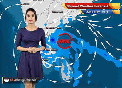 Weather Forecast for Nov 22: Rain in Chennai, TN, Kerala, Karnataka; Delhi pollution to be in 'very poor' category