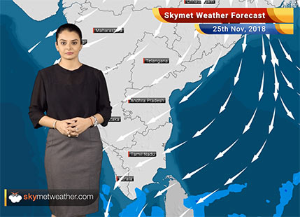 Weather Forecast for Nov 25: Rains to decrease over South Peninsula; further dip in temperatures over plains