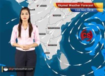Weather Forecast for Nov 12: Cyclonic Strom Gaja over Bay of Bengal to bring light rain and strong winds over Andhra Pradesh, Tamil Nadu. Delhi Pollution to rise further