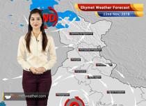 Weather Forecast for Nov 22: Rains ahead for Chennai, TN, Kerala, Karnataka; Delhi pollution to remain in 'very poor' category