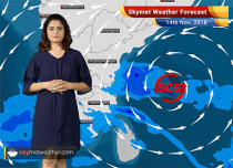 Weather Forecast for Nov 14: Cyclone 'Gaja' to reach Tamil Nadu by Nov 15; snowfall likely in hills of north