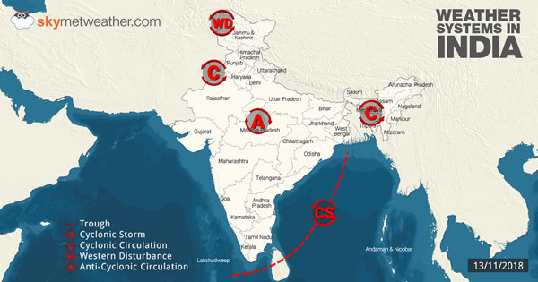 Weather-Systems-in-India-13-11-2018---600
