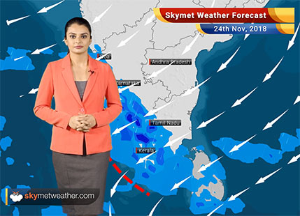 Weather Forecast for Nov 24: Rains to reduce over Tamil Nadu; drop in minimums over North-west plains