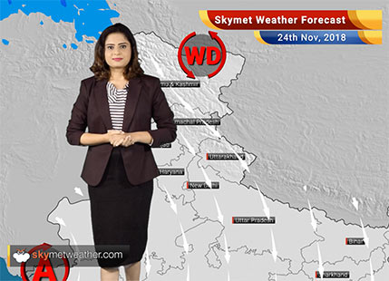Weather Forecast for Nov 24: Rains over Tamil Nadu and Karnataka; Central India to remain dry