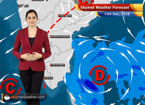 Weather Forecast for Dec 13: Depression in Bay, mercury to dip across Northwest India