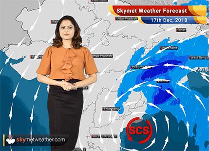17 दिसंबर का मौसम पूर्वानुमान: चक्रवाती तूफान फ़ेथाई; तमिलनाडु और आंध्र प्रदेश में भारी बारिश की संभावना..