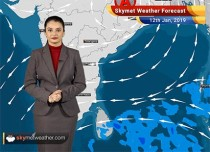 Weather Forecast Jan 12: Rain and snow in Kashmir, Himachal, Uttarakhand, minimums to rise in parts of Central and South India