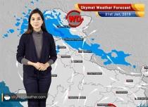 Weather Forecast for Jan 31: Rain and snow likely over Kashmir, Shimla, Srinagar, Manali