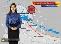 Weather Forecast for Feb 1: Light rain, snowfall over Srinagar, Manali, Shimla