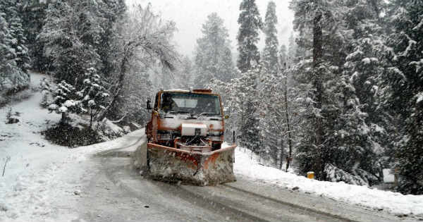 Snow in Srinagar, Manali