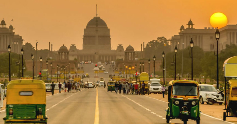 Dry weather in Delhi