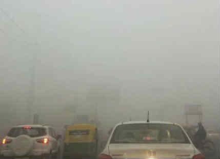 Thick Dense Fog In Delhi