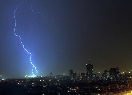 Lightning strikes in Bihar