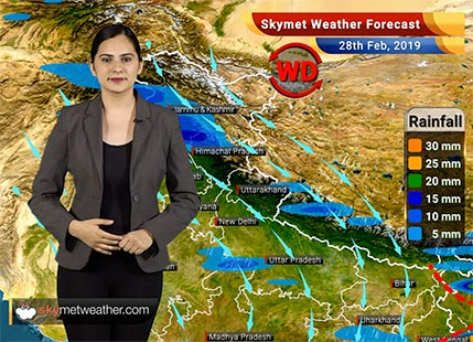 Weather Forecast Feb 28: Rain in West Bengal, Odisha, Northeast India likely | Skymet Weather