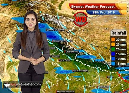28 फरवरी का मौसम पूर्वानुमान: पश्चिम बंगाल, ओडिशा और पूर्वोत्तर भारत में बारिश की संभावना