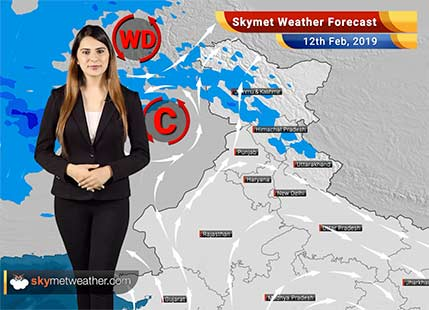 Weather Forecast Feb 12: Rain in Kashmir, Himachal likely; Temperatures over Delhi, Northwest India to rise