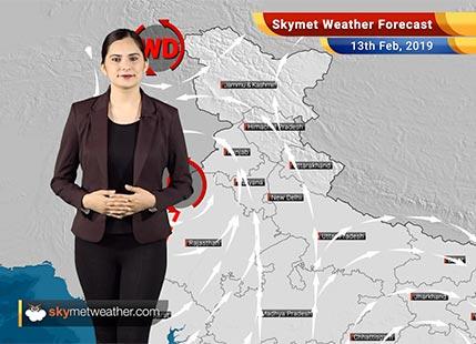 Weather Forecast Feb 13: Rain in Kashmir, Himachal, parts of Uttarakhand, Punjab, Haryana and Delhi likely