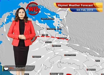 Weather Forecast for Feb 5: Rain in Delhi, Srinagar,Dharamsala, Amritsar, Jalandhar, Karnal