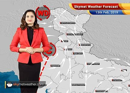 Weather Forecast for Feb 13: Rainslikely inHimachal,Uttarakhand,Kashmir, Delhi, Haryana,Punjab