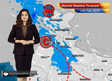 Weather Forecast for Feb 14: Rains in Jammu and Kashmir, Himachal Pradesh, Uttarakhand, Punjab, Haryana, Delhi