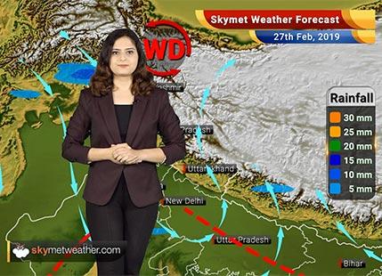 Weather Forecast for Feb 27: Rains likely in Punjab, Delhi, Kashmir, Ranchi, Patna, Kolkata