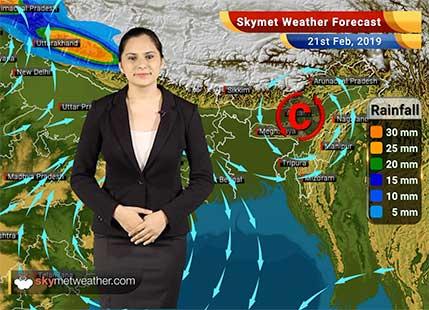 Weather Forecast Feb 21: Rain and snow in Kashmir, Himachal, Uttarakhand; Delhi to witness hailstorm, rains