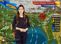 Weather Forecast for Feb 21: Rain in North India to continue, Delhi pollution to improve