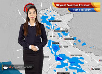 Weather Forecast Feb 10: Light snowfall over Jammu-Kashmir, rains to reduce from East India