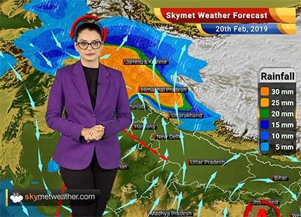 Weather Forecast Feb 20: Rains in Srinagar, Manali, Chamoli, parts of Punjab, Haryana, Delhi, Bareilly