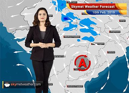 Weather Forecast for Feb 10: Light snowfall in Jammu and Kashmir, Himachal Pradesh; light rain in East India