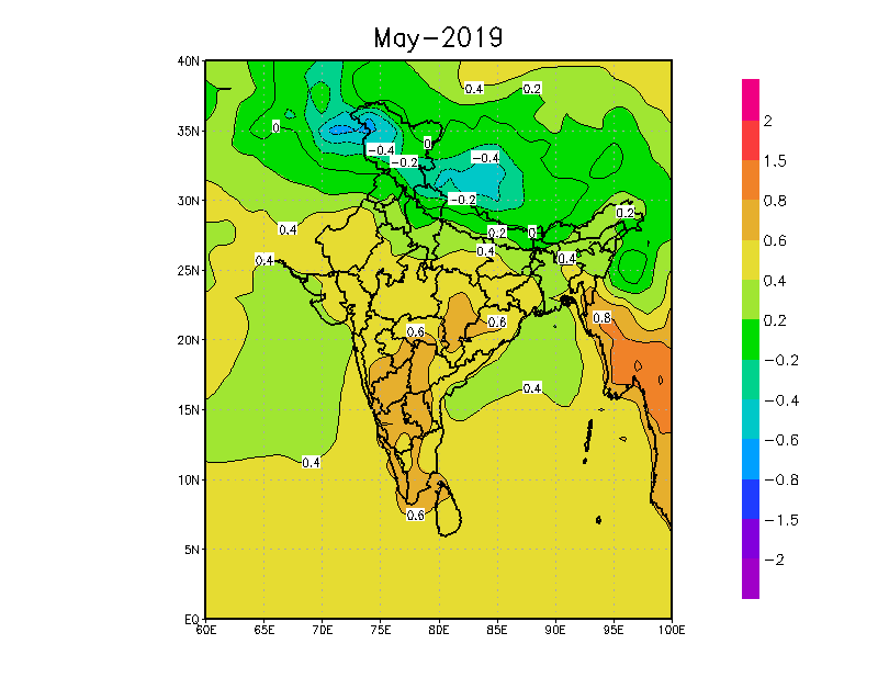 Temperatures likely in May-2019