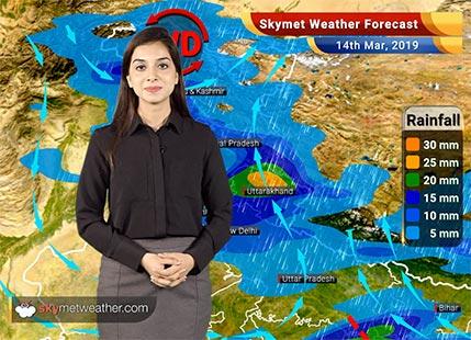 Weather Forecast for March 14: Rainfall in Vaishno Devi, Shimla, Amritsar, Chandigarh and Delhi