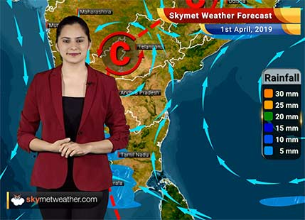 Weather Forecast April 1: Rains to lash parts in Northeast and East India, northwestern plains to remain dry