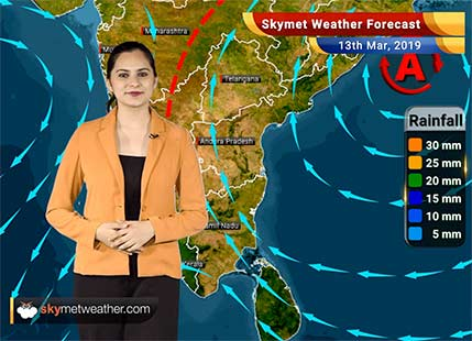Weather Forecast March 13: Rain and snow in Kashmir, Himachal, Uttarakhand likely; hailstorm in Punjab, Haryana