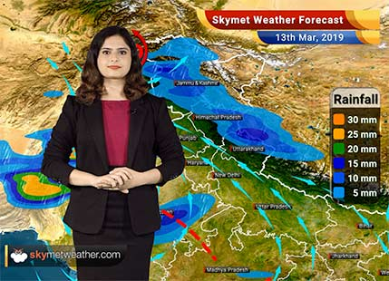 Weather Forecast for March 13: Rain likely in Kashmir, Himachal; hailstorm in Punjab, Haryana and Rajasthan