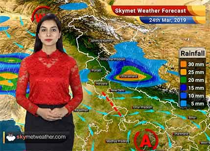 24 मार्च का मौसम पूर्वानुमान: चंडीगढ़, अंबाला, दिल्ली, बीकानेर, जैसलमेर और मेरठ में बारिश..