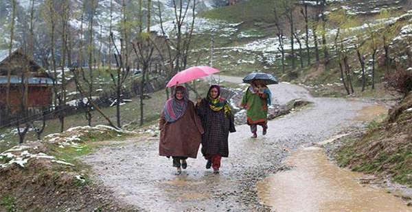 Rain in Kashmir --KNSKashmir 600