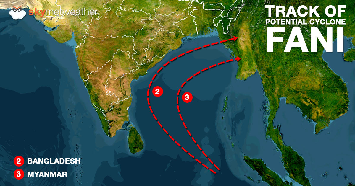 Track of possible Cyclone Fani 2