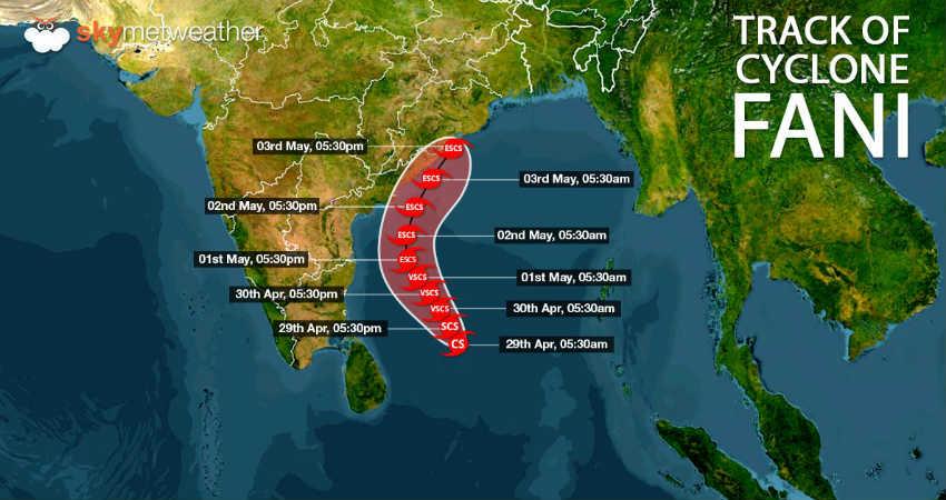 Cyclone Fani latest track