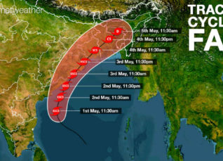Cyclone Fani track
