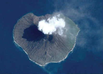Volcanic Eruption from Space