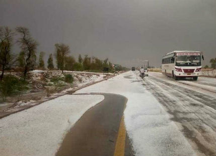 Hailstorm in India Images