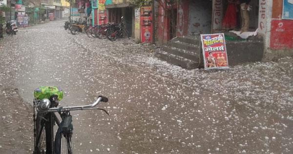 Hail storm in Rajasthan-Skymet  600