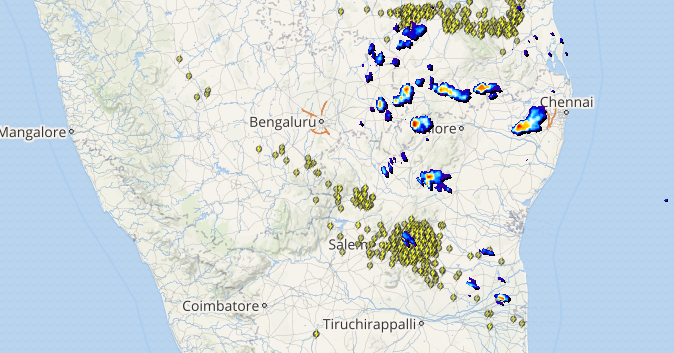 Live lightning and thunderstorm status across India