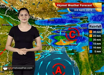 Weather Forecast April 3: Rain in Manipur, Mizoram, Tripura, Sikkim and West Bengal likely