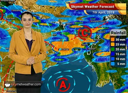 Weather Forecast April 7: Rain in Kolkata, Bihar and Jharkhand, dust storm in Delhi, Punjab